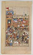 ' – Ottoman Army Entering a City Folio from a Divan of Mahmud `Abd al-Baqi Artistica di Stampa (45,72 x 60,96 cm)