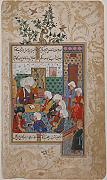 ' – The Great Abu Saud Teaching Law Folio from a Divan of Mahmud `Abd-al Baqi Artistica di Stampa (45,72 x 60,96 cm)