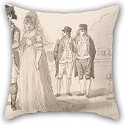 16 X 16 Inches / 40 By 40 Cm Oil Painting Paul Sandby - A Family In Hyde Park Throw Pillow Covers ,both Sides Ornament And Gift To Wedding,kids Girls,couch,girls,divan,kids Room