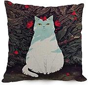 18 X 18 Inches / 45 By 45 Cm Cat Throw Pillow Case ,double Sides Ornament And Gift To Teens Boys,office,christmas,father,home,divan