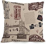 18 X 18 Inches / 45 By 45 Cm London Pillowcase ,two Sides Ornament And Gift To Kids Boys,kids Girls,outdoor,wife,divan,lover