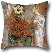20 X 20 Inches / 50 By 50 Cm Oil Painting Odilon Redon - Pandora Throw Pillow Covers ,double Sides Ornament And Gift To Teens,divan,dance Room,coffee House,deck Chair