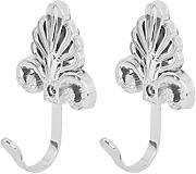 2pcs Ganchos de Pared Puerta Cortina Forma Árbol Color Plata Accesorio Decorativo