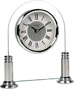 Acctim 36427 Bewdley Reloj de chimenea, color plateado y blanco
