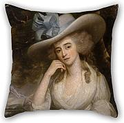 Artistdecor Throw Pillow Case 18 X 18 Inches / 45 By 45 Cm(Double Sides) Nice Choice For Divan,Dinning Room,Home Theater,Her,Bf,Outdoor Oil Painting Smart I Of Ipswich, John - Mrs John Smart I