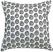 Produktbild: Avarada Rose Twinkle Checkered Throw Pillow Cover Decorative Sofa Couch Cushion Cover Zippered 16x16 Inch (40x40 cm) White by Avarada