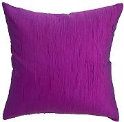 Avarada Solid Crepe Throw Pillow Cover Decorative Sofa Couch Cushion Cover Zippered 16x16 Inch (40x40 cm) Purple Violet by Avarada