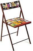 Beat Collection Click - Silla plegable para salón, 46 x 43 x 45 cm, multicolor