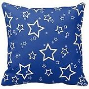 Blue With White Stars Pattern Modern Stylish Pillowcase Sofa Couch Chair