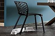 Calligaris Silla apilable Gamera negra