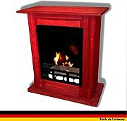 Produktbild: Chimenea Etanol y Gel Modelo Madrid Premium Royal Rojo including 21 piece set + 1 Vidrio de seguridad