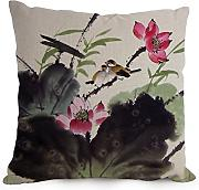Chinese Painting Throw Pillow Covers 12 X 20 Inches / 30 By 50 Cm Best Choice For Dining Room,bf,kitchen,deck Chair,divan,couch With Double Sides