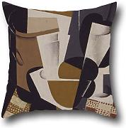 Cushion Covers Of Oil Painting Juan Gris - Broc Et Verre,for Dance Room,gril Friend,dining Room,gf,divan,car 20 X 20 Inches / 50 By 50 Cm(twin Sides)