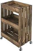 Decowood DCW02 Mueble-Carrito, Madera, Marrón, 51.5 x 69.7 x 31 cm