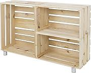 Decowood DCW02 Mueble Tv, Madera, Beige, 98 x 67.5 x 25.5 cm