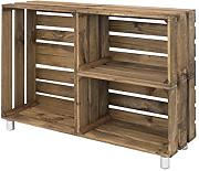 Decowood DCW02 Mueble Tv, Madera, Marrón, 98 x 67.5 x 25.5 cm