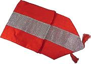 Eclat Tasselled Table Runner Red by Panache