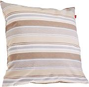 Esprit Home 21458-030-50-50 Coloured - Funda de cojín (50 x 50 cm), diseño de rayas, color beis