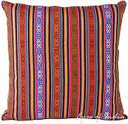 "Produktbild: EYES OF INDIA - 16"" COLORFUL DHURRIE DECORATIVE SOFA PILLOW CUSHION COVER Indian Bohemian Decor"