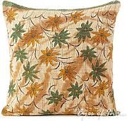 "EYES OF INDIA - 16"" COLORFUL KANTHA DECORATIVE SOFA CUSHION PILLOW COVER Indian Bohemian Decor"
