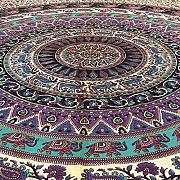 Produktbild: EYES OF INDIA - QUEEN BLACK INDIAN HIPPIE MANDALA ELEPHANT TAPESTRY BEDSPREAD Beach Blanket Dorm