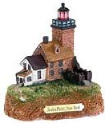 Faro sodus Point (New York, USA) en Ligh thouses Caja de Regalo de Madera