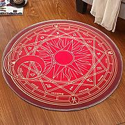 Good thing Alfombra Magic Array Niños Ronda Alfombra Dormitorio de la silla de la computadora Giratorio Basket Basket Mats ( Color : B , Tamaño : Diameter 160cm )
