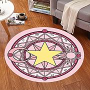 Good thing Alfombra Magic Array Niños Ronda Alfombra Dormitorio de la silla de la computadora Giratorio Basket Basket Mats ( Color : F , Tamaño : Diameter 120cm )