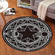 Good thing Alfombra Magic Array Niños Ronda Alfombra Dormitorio de la silla de la computadora Giratorio Basket Basket Mats ( Color : G , Tamaño : Diameter 120cm )