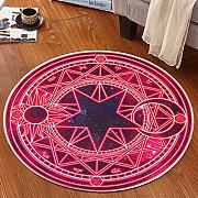 Good thing Alfombra Magic Array Niños Ronda Alfombra Dormitorio de la silla de la computadora Giratorio Basket Basket Mats ( Color : B , Tamaño : 60 cm de diámetro )