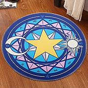 Good thing Alfombra Magic Array Niños Ronda Alfombra Dormitorio de la silla de la computadora Giratorio Basket Basket Mats ( Color : A , Tamaño : Diameter 100cm )
