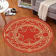Good thing Alfombra Magic Array Niños Ronda Alfombra Dormitorio de la silla de la computadora Giratorio Basket Basket Mats ( Color : D , Tamaño : 60 cm de diámetro )