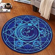 Good thing Alfombra Magic Array Niños Ronda Alfombra Dormitorio de la silla de la computadora Giratorio Basket Basket Mats ( Color : A , Tamaño : Diameter 160cm )