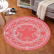 Good thing Alfombra Magic Array Niños Ronda Alfombra Dormitorio de la silla de la computadora Giratorio Basket Basket Mats ( Color : C , Tamaño : Diameter 80cm )
