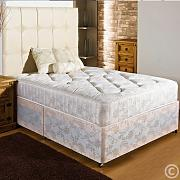 Hf4you New Ortho Firm Quilted Damask Divan Bed - 3ft6 Large Single - End Drawer by Hf4you