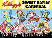 "Kelloggs ""Sweet Eatin 'Carnival Land Lienzo (40 x 50 cm, multicolor"