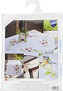 "Little Birds And Pansies Table Runner Stamped Embroidery Kit-16""X40"""