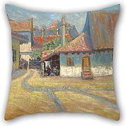 Loveloveu 18 X 18 Inches / 45 By 45 Cm Oil Painting Nadežda Petrović - Belgrade Suburb Pillow Cases,twin Sides Is Fit For Boy Friend,relatives,chair,office,divan,indoor