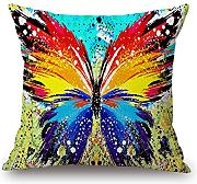 Loveloveu Butterfly Throw Pillow Case 18 X 18 Inches / 45 By 45 Cm Gift Or Decor For Divan,chair,gril Friend,office,outdoor,wedding - 2 Sides