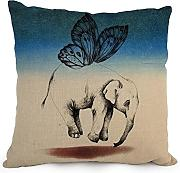 Loveloveu Elephant Throw Pillow case/Fundas para almohada ,best For Teens,divan,dance Room,coffee House,deck Chair 18 X 18 Inches / 45 By 45 Cm(twice Sides)