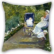 Loveloveu Oil Painting Mary Cassatt - Children In A Garden (The Nurse) Pillowcase/Fundas para almohada 20 X 20 Inches / 50 By 50 Cm Best Choice For Adults,divan,kids,boy Friend,kids Room,adults With Both Sides
