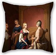 Loveloveu Oil Painting Nils Jakob Blomm??r - Heimdall Returns Brisingamen To Freyja Throw Cushion Covers 16 X 16 Inches / 40 By 40 Cm Best Choice For Home Office,floor,drawing Room,seat,divan,her W