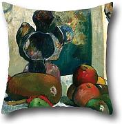 Oil Painting Gauguin, Paul - Still Life With Profile Of Laval Pillow Cases 16 X 16 Inches / 40 By 40 Cm Gift Or Decor For Dining Room,bf,kitchen,deck Chair,divan,couch - Each Side