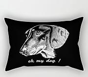 Pillowcase Of Dogs,for Wedding,kids Girls,couch,girls,divan,kids Room 20 X 26 Inches / 50 By 65 Cm(each Side)