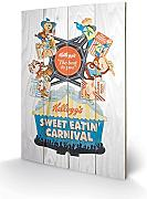 Pyramid International sw10705p Vintage Kelloggs (Sweet Eatin 'Carnival) Madera pared de arte, madera, multicolor, 40 x 2,5 x 59 cm