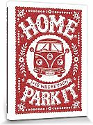 Set: Coches Antiguos, Home Is Where You Park It, Snowdon Designs Cuadro, Lienzo Montado Sobre Bastidor (80x60 cm) + 1x 1 Accesorio Decorativo De Promoción 1art1®
