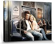 Set: J.J. Brando, James Dean And Marilyn Monroe, Subway Ride Cuadro, Lienzo Montado Sobre Bastidor (80x60 cm) + 1x 1 Accesorio Decorativo De Promoción 1art1®