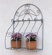 Soporte Flores de pared Romance 66 cm Florero 20312 metal estante de pared Flores Estantería