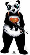 Star Cut Outs Panda suicidio Squad Life Size Cartón Cut Out, multicolor
