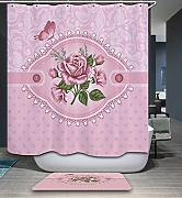 SUN-72 × 72 2×72? Durable Polyester Fabric Waterproof Bathroom Shower Curtain Set with Hooks , 2
